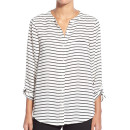 Halogen Print Tie Front Blouse (Regular & Petite), striped shirt, striped blouse