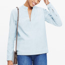 Madewell denim popover shirt, denim shirt, chambray shirt, denim v-neck top, chambray v-neck top,
