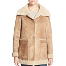 Bernardo Faux Shearling Jacket, suede jacket, shearling jacket, faux shearling jacket, brown shearling jacket, brown suede jacket, beige shearling jacket, beige suede jacket