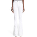 Hudson Jeans 'Taylor' Flare Jeans, white flare jeans, white high-rise flare jeans