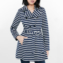 Express Striped Trench Coat, striped trench coat, navy trench coat, stripe trench coat