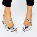 ASOS Lead The Way Flats, metallic flats, silver flats, silver pointy toe flats