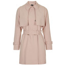 Topshop Lightweight Belted Trench, pale pink trench coat, blush trench coat