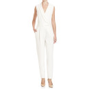 Milly Tuxedo, white jumpsuit, white v-neck jumpsuit, white wrap jumpsuit, white sleeveless jumpsuit