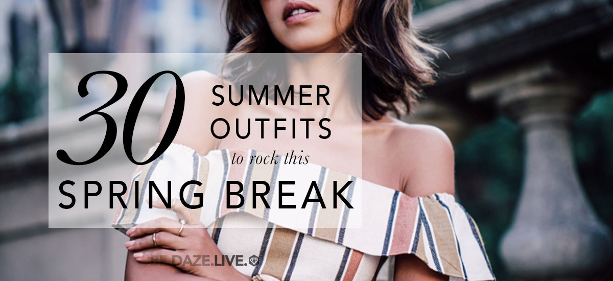 summer outfits - 30 Summer Outfits To Rock This Spring Break - beach outfits - getaway outfits - spring break outfits - vacation outfits - travel outfits