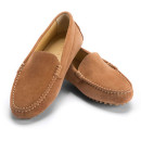 M Gemi The Felize Shoe, brown loafers, camel loafers, light brown loafers, camel suede loafers, brown flats, camel flats, light brown flats, camel suede flats