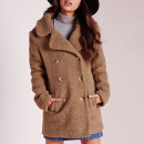 Missguided teddy coat ($51 USD), brown coat, camel coat, brown fur coat, camel fur coat, brown teddy coat, camel teddy coat, brown fuzzy coat, camel fuzzy coat