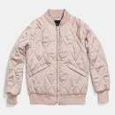 Coach Quilted Blouson Jacket, light pink bomber jacket, blush bomber jacket, light pink quilted bomber jacket, blush quilted bomber jacket