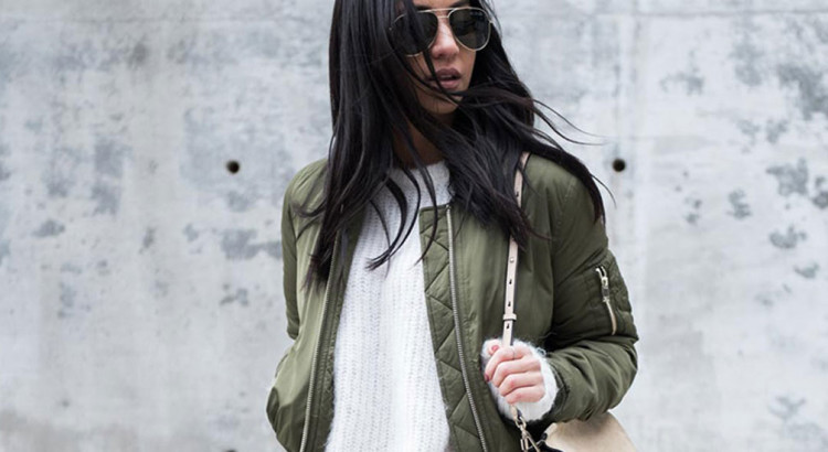bomber jacket - The Bomber Is Fashion's Favorite Spring Jacket: Fashion blogger 'Memorandum' wearing a short sleeve fitted top, a black belt, coral wide leg pants, black loafers, a black embroidered bomber jacket and a black handbag. spring outfits, fall outfits, work outfits