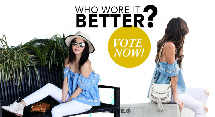 Who Wore It Better? - summer fashion, summer outfits, off the shoulder top outfit, street style, street chic style, beach outfits,