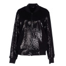 Odi et Amo Bomber Jacket, black bomber jacket, black sequin bomber jacket, black sequin jacket, black shiny jacket, black metallic jacket