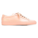 Common Projects 'Original Achilles low' sneakers, pink sneakers, pink leather sneakers, blush sneakers, blush leather sneakers, baby pink sneakers