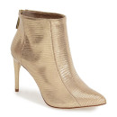 BCBGMAXAZRIA 'Cara' Bootie, gold bootie, metallic bootie, golden bootie, golden ankle boot, golden heeled bootie, metallic ankle boot, metallic heeled bootie