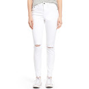 BP. Distressed High Waist Skinny Jeans, white jeans, white skinny jeans, white ripped skinny jeans, white distressed skinny jeans, white destroyed skinny jeans