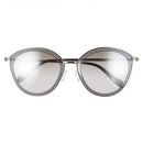 Oliver Peoples 'Gwynne' Sunglasses, grey sunglasses, silver sunglasses, metallic sunglasses, grey mirror sunglasses, silver mirror sunglasses, metallic mirror sunglasses