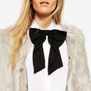 ASOS Oversized Bow Tie, black bow, black bow tie, black bow scarf
