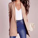 Missguided longline blazer, light pink blazer, blush blazer, nude blazer, light pink long blazer, blush long blazer, nude long blazer