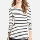 Amour Vert 'Francoise' Stripe Top, striped t-shirt, stripe t-shirt, stripe long sleeve t-shirt, stripe long sleeve tee
