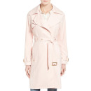 French Connection Trench Coat, pink trench coat, blush trench coat, light pink trench coat, pale pink trench coat