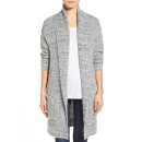 Hinge Marled Long Cardigan, grey long cardigan, grey cardigan