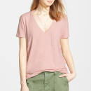Madewell V-Neck Tee, pink t-shirt, pink tee, blush t-shirt, blush tee, light pink t-shirt, light pink tee