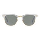 Ray-Ban Clubmaster Aluminum, rayban white sunglasses, white clubmaster sunglasses, white sunglasses, gold sunglasses