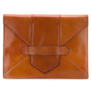 Saint Laurent Vintage Envelope Clutch, brown clutch, brown envelope clutch
