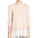 Chelsea28 Pleated Hem Sweater, light pink sweater, blush sweater, pale pink sweater