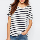 Vila Stripe Boxy Top, striped t-shirt, stripe t-shirt, stripe short sleeve t-shirt, striped short sleeve t-shirt