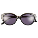 BCBGMAXAZRIA 'Stunning' Cat Eye Sunglasses, black sunglasses, black cat eye sunglasses
