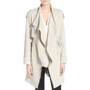 French Connection Drape Front Trench Coat, beige trench coat, ivory trench coat, light trench coat, drape trench coat