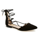 Louise et Cie 'Abri' Flat, black flats, black shoes, black lace up flats, black pointy toe flats