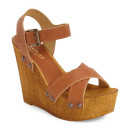 Charles David 'Munich' Wedge, brown wedge, brown platform wedge, brown wood platform wedge, brown wood sole wedge, brown sandal, brown heeled sandal, brown platform sandal
