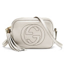 Gucci Soho Small Bag, white small bag, white bag, white shoulder bag, white tassel bag, white tassel shoulder bag, white crossbody bag, white tassel crossbody bag