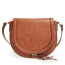 Sole Society 'Thalia' Bag, brown bag, brown handbag, brown saddle bag, brown saddle shoulder bag