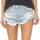One Teaspoon The Beauty Shorts, light distressed denim shorts
