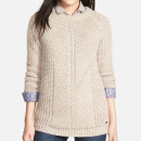 Barbour 'Sinderhope' Sweater, beige chunky sweater, beige sweater, cream sweater, cream chunky sweater