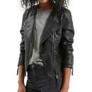 Topshop 'Polly' Jacket (Regular & Petite), black leather jacket, black biker jacket, black moto jacket, black jacket