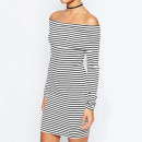ASOS Off Shoulder Dress, striped off the shoulder dress, stripe off the shoulder dress, striped off shoulder dress, stripe off shoulder dress