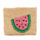 Hat Attack Watermelon Clutch, beige clutch, straw clutch, beach clutch, fruit clutch