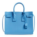 Saint Laurent 'Small Sac de Jour' Bag, blue bag, blue handbag, blue square bag