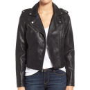Levi's Faux Leather Jacket, black leather jacket, black biker jacket, black moto jacket