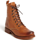 Frye 'Veronica Combat' Boot, brown boots, brown flat boots, brown lace up boots, brown military boots, brown mid calf boots