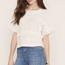 Forever 21 Tasseled Sweater, white short sleeve sweater, white tassel sweater, white fringe sweater, white tassel top, white fringe top