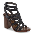 Sam Edelman Keith Sandals, black sandals, black heels, black heeled sandals, black studded heeled sandals, black block heel sandals