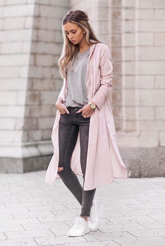 A Blush Trench Coat Is The Perfect Statement Piece Be