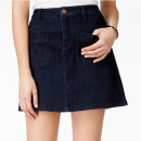 Maison Jules Denim Mini Skirt, denim mini skirt, dark denim mini skirt, dark denim a-line mini skirt