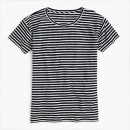 J Crew Relaxed T-shirt, black stripe t-shirt, black short sleeve stripe t-shirt, black stripe short sleeve t-shirt, black stripe crew neck t-shirt