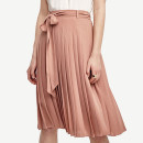 Ann Taylor Belted Pleated Skirt, pale pink pleated skirt, light pink pleated skirt, blush pleated skirt