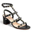 Valentino 'Rockstud' Sandal, black sandals, black heeled sandals, black block heel sandals, black studded sandals, black studded heeled sandals